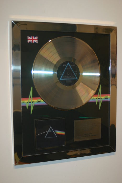 "Pink Floyd Platinum fan award ""The Dark Side of the Moon"" Stunning"