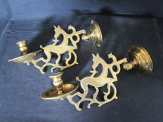 Pair of wall sconces for candles - Germany - 19th century