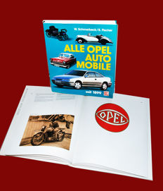 "Opel: ""Zeichen der Zeit"" - ""Signs of the Times"" - a phantastic book for Opel-fans + a first edition of the ""Opel-bible: "" Alle Opel Automobile seit 1899"