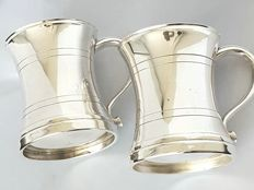 2 silver plated English cups, 1930, marked M&R silver plated England.