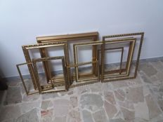 Nine frames in gilt wood - Years 1960s - Italy