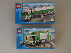 City - 3180 + 4432 - Tank Truck + Garbage Truck