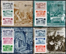 Europa Stamps 1992 - Batch with 22 blocks from Portugal, Columbus' Travels - Michel BL 85/90