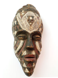 A fine old Bakongo face mask from the 2nd half 20th century
