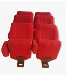 Lot of 3 pairs of theatre chairs