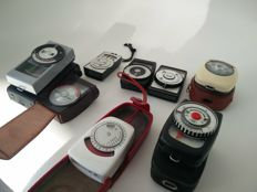 Collection of 9 exposure meters