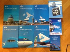 Lot with 9 KLM books