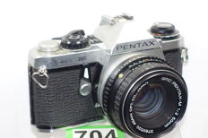 Nice Pentax ME super camera with pentax-m 1:2 50 mm lens