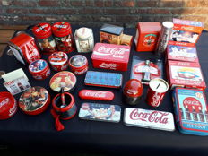 Coca cola metal box collection