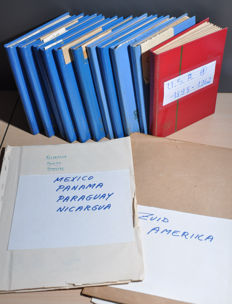 North/Central/South America - Batch on old (album) sheets and in stock books.