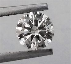 1.02 carat Diamond , G color , SI2 clarity , UNTREATED , 3 x EX , AIG certified + Laser Inscription on Girdle