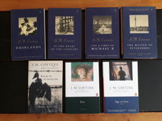 J. M. Coetzee; Lot with 12 books from the famous South-African writer Coetzee - 1987/2005