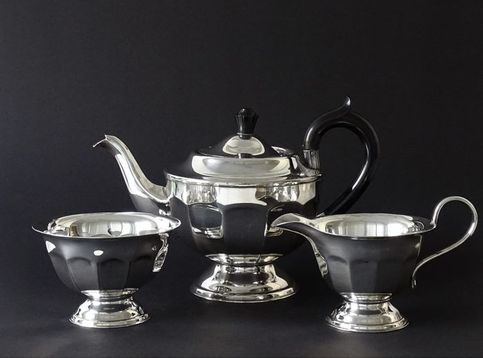 Silver plated tea set - Viners of Sheffield - Sheffield, England - Ca. 1960