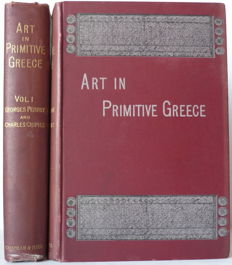 Georges Perrot and Charles Chipiez - History of Art in Primitive Greece: Mycenian Art - 2 volumes - 1894