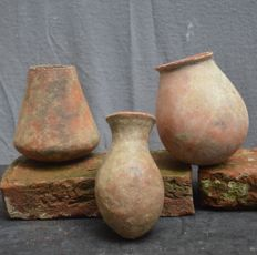 3 Antique African earthenware jars - DJENNE - Mali