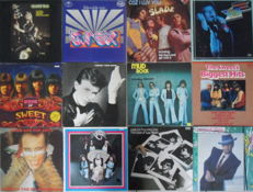 Lot of 12  Glam-Rock Albums