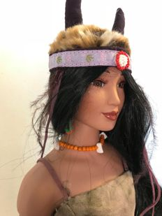 Limited Designer Doll - Rhonda Holy Bear creation -  Lakota Sioux doll - around 60 cm high  - USA