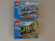 City 60059 + 60056 - Logging Truck + Tow Truck