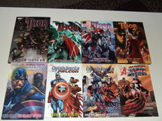 Marvel - Thor, Captain America & Falcon - 3x HC With Dust Jacket (1x Oversized) + 5x TPB/sc - 1st Edition - (2004/2009)