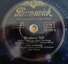 78 rpm records Jazz / Dixie / Swing etc. including Louis Armstrong, Fats Waller, Doris Day, Dutch Swing College Band etc.