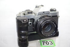 Nice Pentax MX camera with pentax-m 1:2 50 mm lens and pentax winder