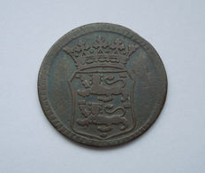 "West Friesland - hybrid ""duit"" 1756 VOC (233a Scholten) - copper"