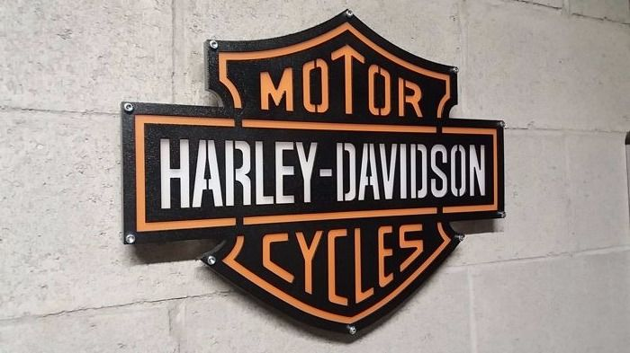 harley davidson wall lamp 2013 catawiki. Black Bedroom Furniture Sets. Home Design Ideas