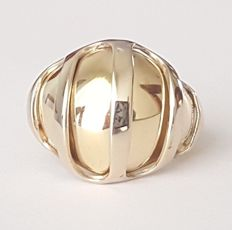 Bombe Ring - 18 kt Two-tone gold - Size: 17 mm 13.5/53.5 (EU)