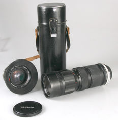 2 x Panagor M42 lenses, namely 2.5/28 mm and zoom lens 85-205 mm