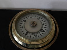 C.H Bianchetti Large Heavy Brass WW2 French Naval Compass