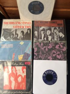 Rolling Stones, lot of 7 '60's Singles