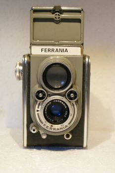 A Ferrania twin-lens reflex camera, year of production unknown