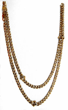 Superb and solid necklace in two-tone 18 kt solid gold - 750 - Excellent condition