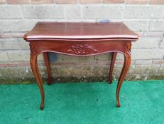 Mahogany folding card table Italy, early 20th century