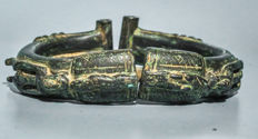 Old & Beautiful Bronze Bracelet - Dogon -  Mali.