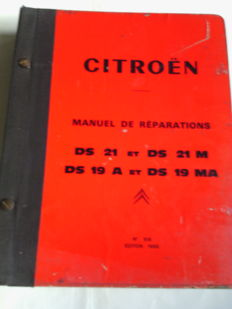 Citroën ds, id, very large repair manual.