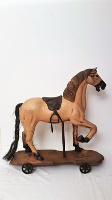 Decorative wooden horse - France - 20th century