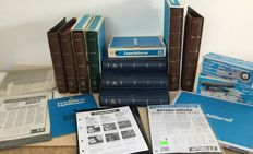 Accessories - 10 Leuchtturm albums, folio sheets and loose, UV lamp and lighted magnifying glass