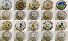 Art Ceramic Solimene Vietri, Italy - Collection of 20 Buon Ricordo Plates