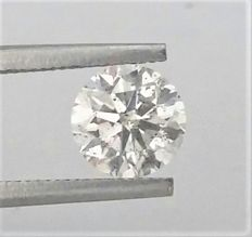 1.25 carat  - E color - SI1 clarity  - 3 x EX - Natural Diamond  Comes With Big AIG Certificate + Laser Inscription On Girdle .