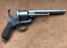 Nice large 11mm pinfire revolver type Lefaucheux - ca. 1860