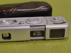 Minox B spy camera with leather case