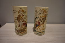 K & G Lunevile - Pair of signed vase
