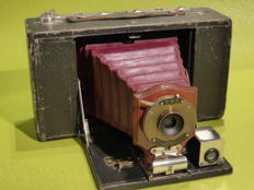 Kodak No. 3 Folding Brownie Camera with red bellows