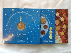 France - Divisional series 2002 and 2003 'Le Petit Prince' - official 2003 series - 24 coins + 2 medals