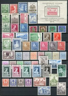 Belgium 1950/1951 - 2 complete years - OBP 823/875 and block 29
