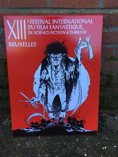 Advertising sign for the 13th Festival international du film fantastique de Bruxelles - 2002