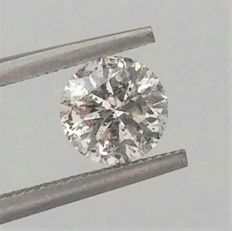 1.10 carat Diamond , E color , SI3 clarity , Big AIG certificate + Laser Inscription on Girdle , 3 x EX .