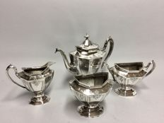 Very beautiful antique silver plated tea set, Reed & Barton, England, ca. 1885