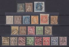 Switzerland, from 1854 to 1966 – Collection with Airmail, Postage Due, fragments and letter frontispieces
